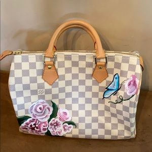 💯% Authentic Lous Vuitton Hans painted speedy